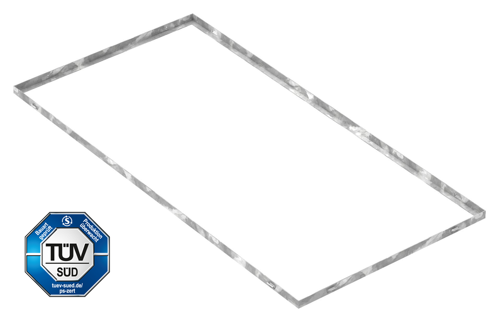 Zarge   Maße: 600x1200x23 mm   für Rosthöhe 20 mm   aus S235JR (St37-2), bandverzinkt