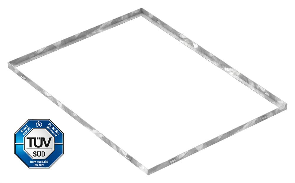 Zarge   Maße: 600x800x23 mm   für Rosthöhe 20 mm   aus S235JR (St37-2), bandverzinkt