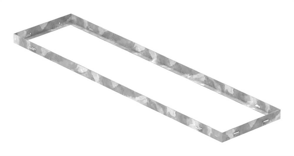Zarge | Maße: 250x1000x33 mm | für Rosthöhe 30 mm | aus S235JR (St37-2), bandverzinkt