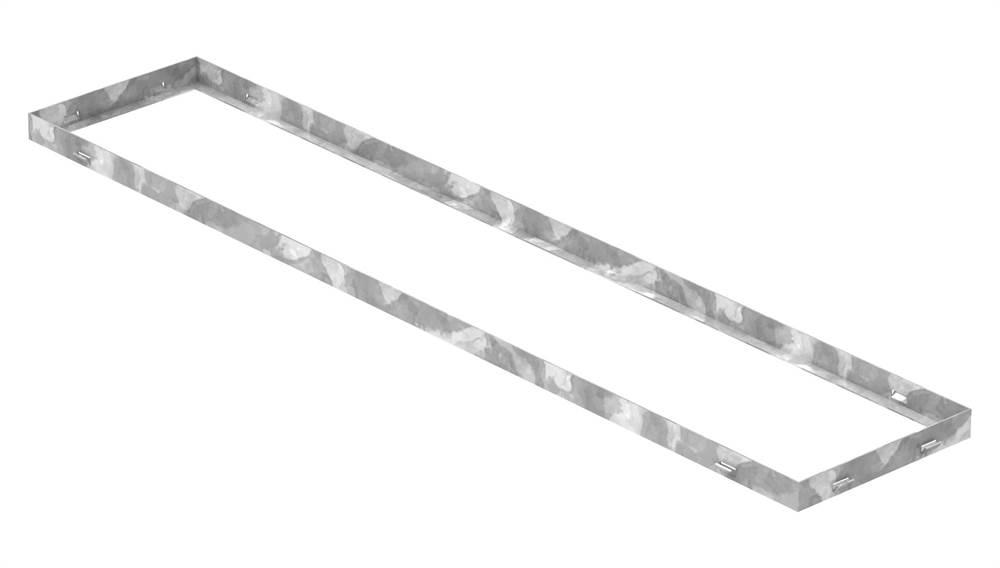 Zarge | Maße: 250x1250x33 mm | für Rosthöhe 30 mm | aus S235JR (St37-2), bandverzinkt