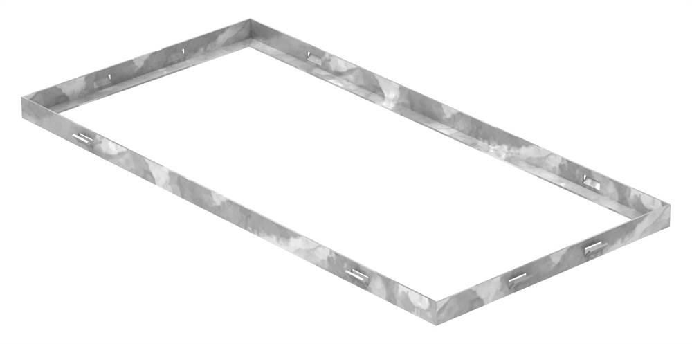 Zarge   Maße: 300x600x23 mm   für Rosthöhe 20 mm   aus S235JR (St37-2), bandverzinkt