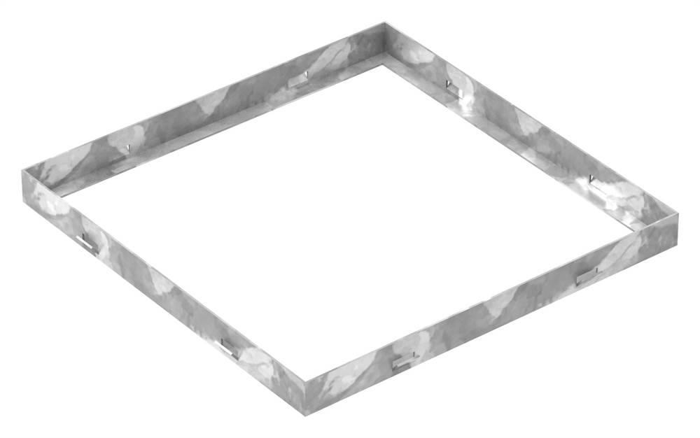 Zarge | Maße: 400x400x33 mm | für Rosthöhe 30 mm | aus S235JR (St37-2), bandverzinkt
