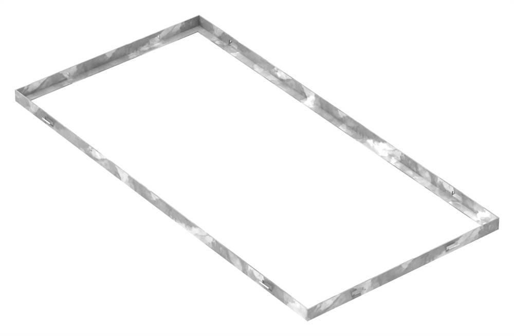 Zarge   Maße: 400x800x23 mm   für Rosthöhe 20 mm   aus S235JR (St37-2), bandverzinkt