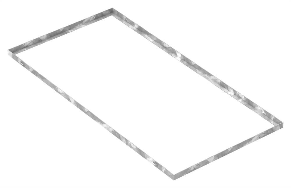 Zarge   Maße: 500x1000x23 mm   für Rosthöhe 20 mm   aus S235JR (St37-2), bandverzinkt