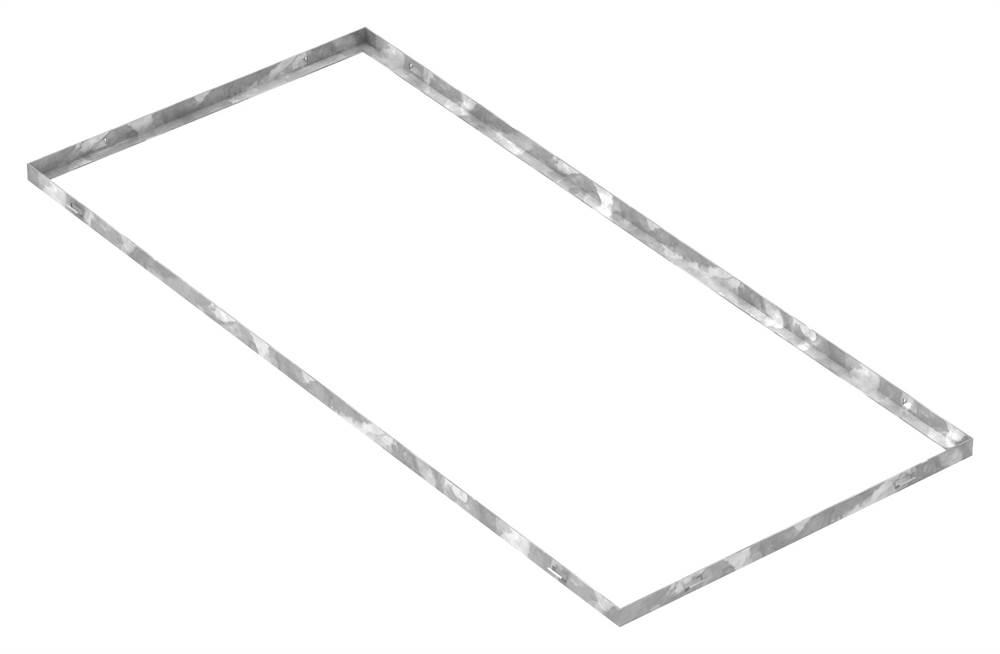 Zarge   Maße: 500x1100x23 mm   für Rosthöhe 20 mm   aus S235JR (St37-2), bandverzinkt