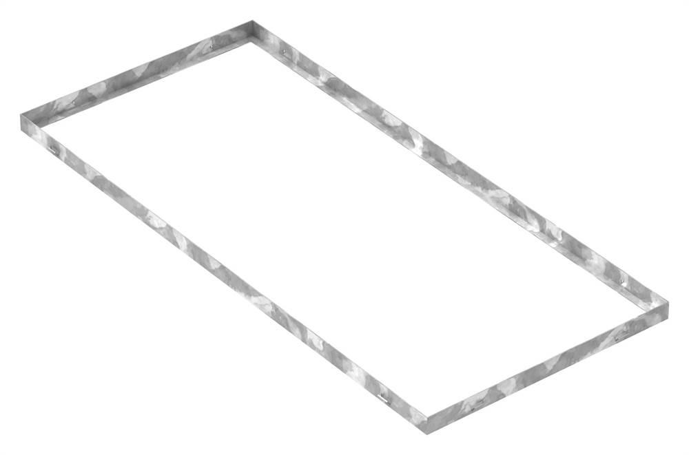 Zarge   Maße: 500x1100x33 mm   für Rosthöhe 30 mm   aus S235JR (St37-2), bandverzinkt