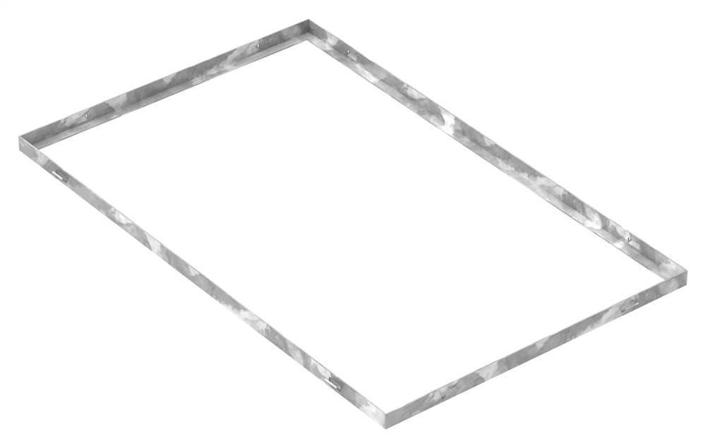 Zarge   Maße: 500x800x23 mm   für Rosthöhe 20 mm   aus S235JR (St37-2), bandverzinkt