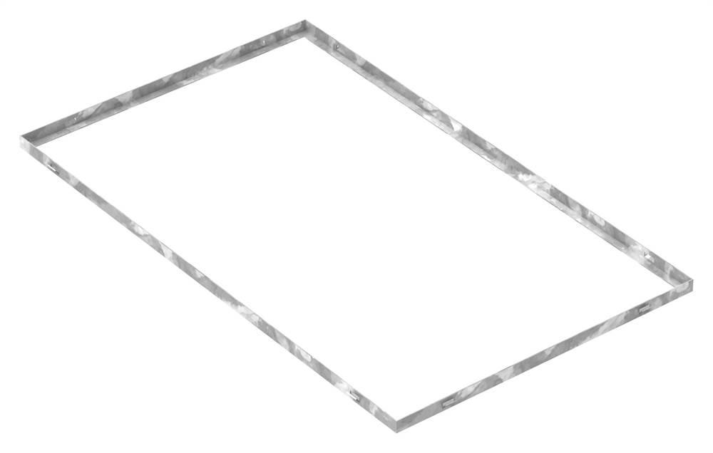 Zarge   Maße: 600x1000x23 mm   für Rosthöhe 20 mm   aus S235JR (St37-2), bandverzinkt
