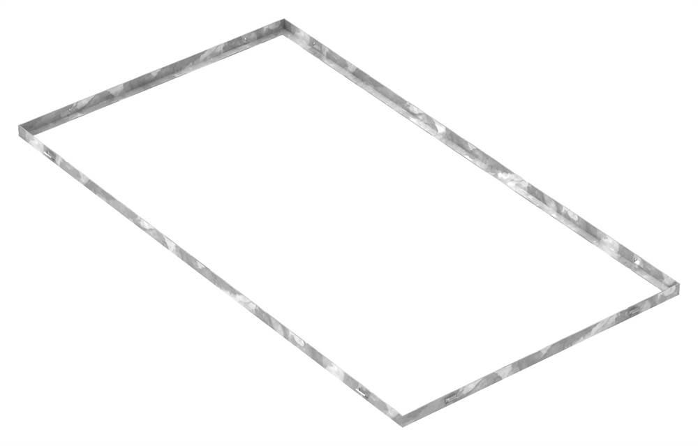 Zarge   Maße: 600x1100x23 mm   für Rosthöhe 20 mm   aus S235JR (St37-2), bandverzinkt