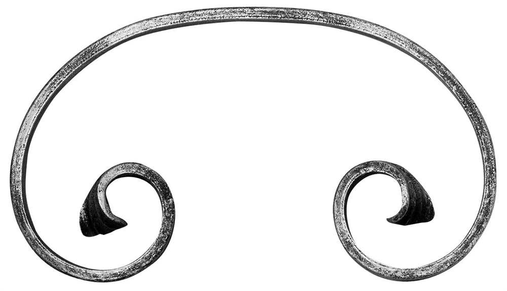 C-Schnecke | Maße: 115x200 mm | Material: 12x5 mm | Stahl S235JR, roh