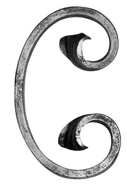 C-Schnecke | Maße: 60x95 mm | Material: 12x5 mm | Stahl S235JR, roh