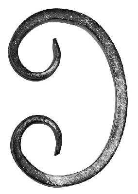 C-Schnecke | Maße: 50x80 mm | Material: 12x5 mm | Stahl S235JR, roh