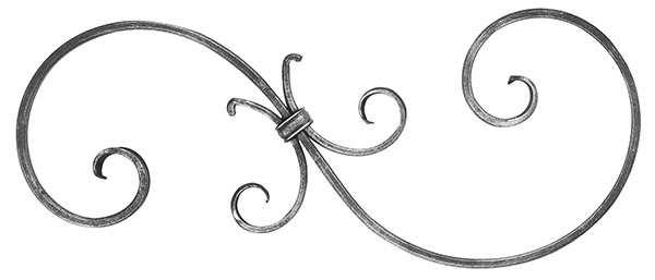 Zierteil | Maße: 220x520 mm | Material: 16x8 mm | Stahl S235JR, roh
