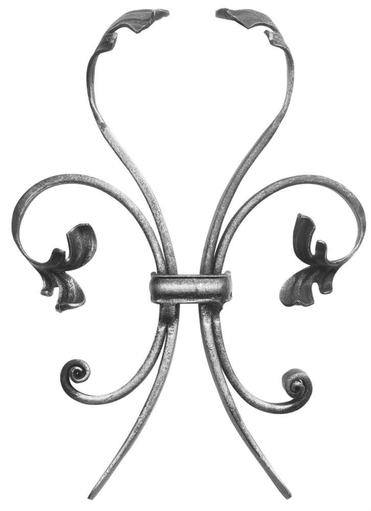Leichtbarock | Steckelement einfach | Maße: 185x260 mm | Stahl S235JR, roh
