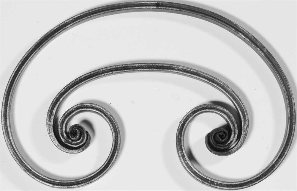 Schwerbarock | Maße: 300x200 mm | Material: 16x8 mm, gerillt | Stahl S235JR, roh