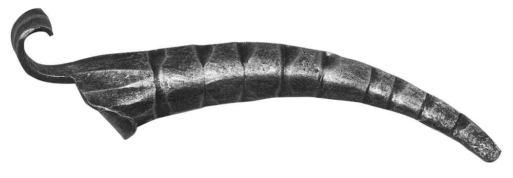 Schwerbarock | Maße: 75x260 mm | Material: 5 mm | Stahl S235JR, roh