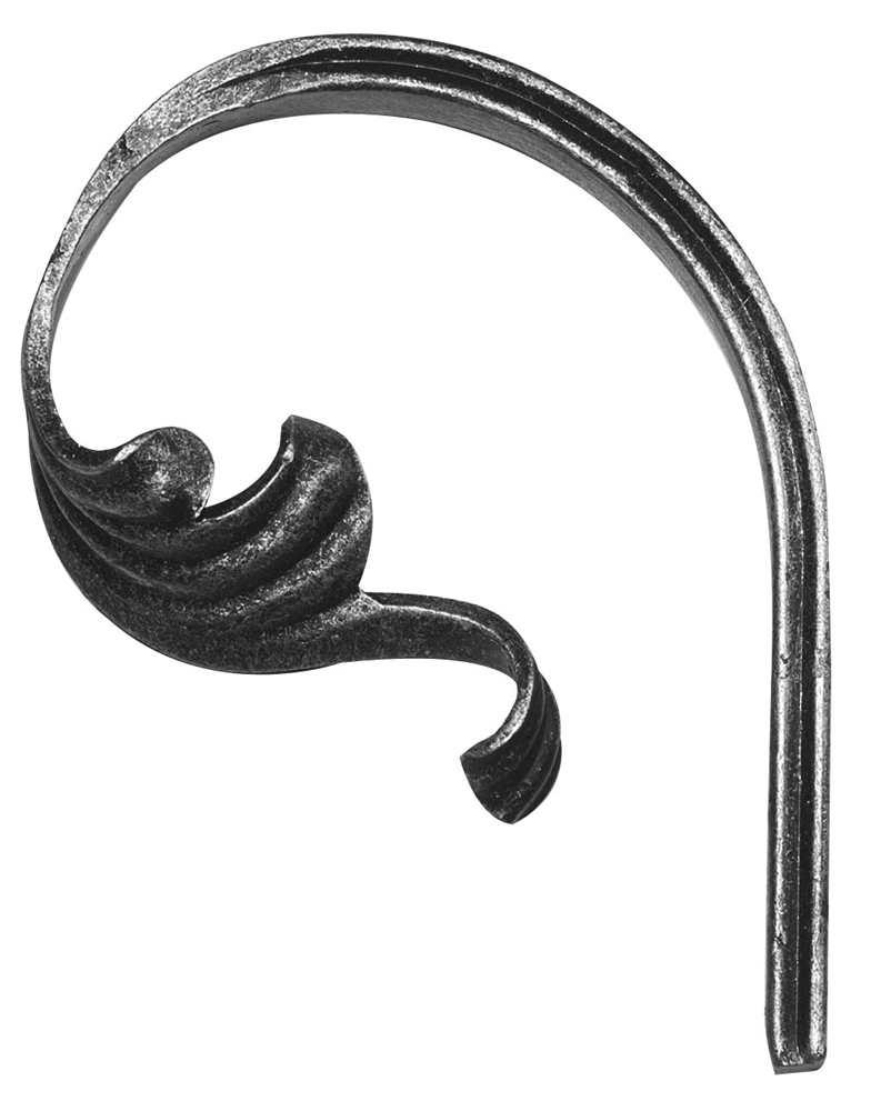 Schwerbarock | Maße: 105x140 mm | Stahl S235JR, roh