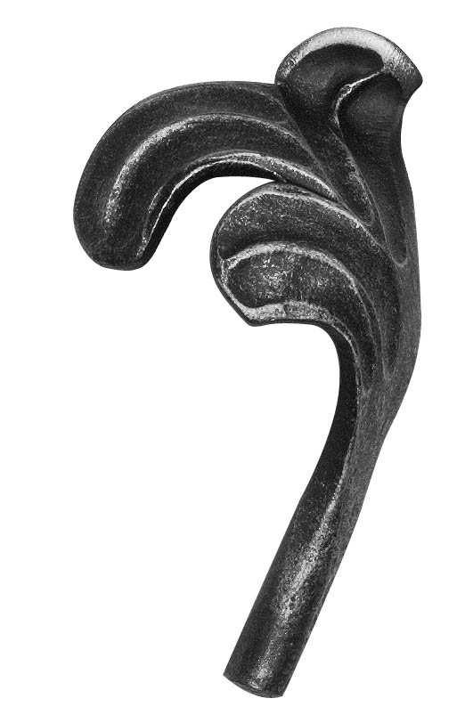 Ländliches Barock | Maße: 60x110 mm | Stahl S235JR, roh