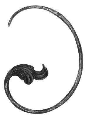 Ländliches Barock | Maße: 190x260 mm | Material: 10 mm | Stahl S235JR, roh