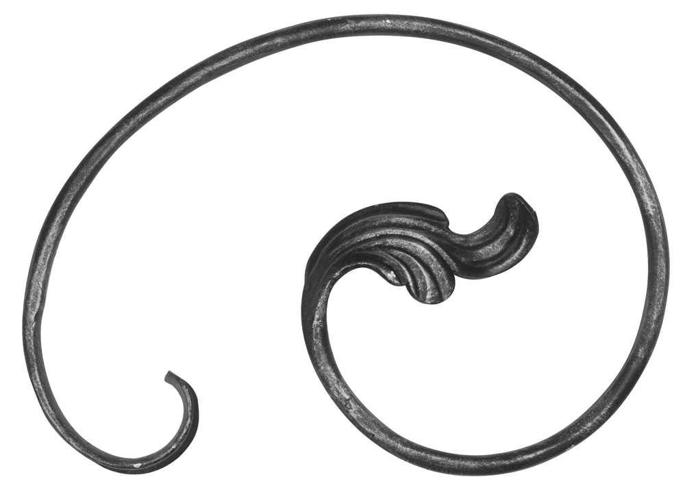 Ländliches Barock | Maße: 210x300 mm | Stahl S235JR, roh