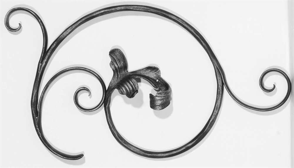 Ländliches Barock | Maße: 310x550 mm | Stahl S235JR, roh