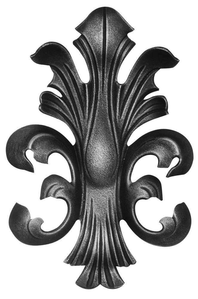 Rundeisenbarock | Maße: 15x22,5 mm | Stahl S235JR, roh
