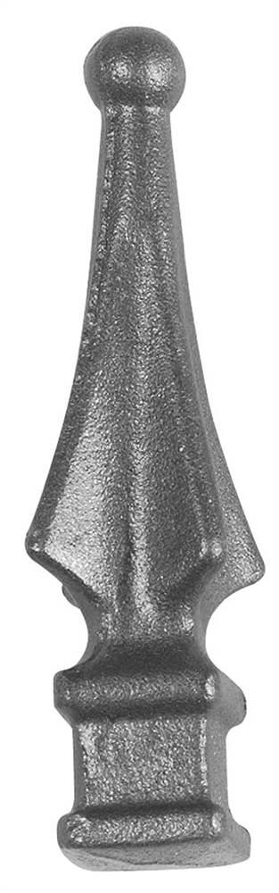 Zaunspitze | Höhe: 120 mm | Material: 24x24 mm | Stahl S235JR, roh
