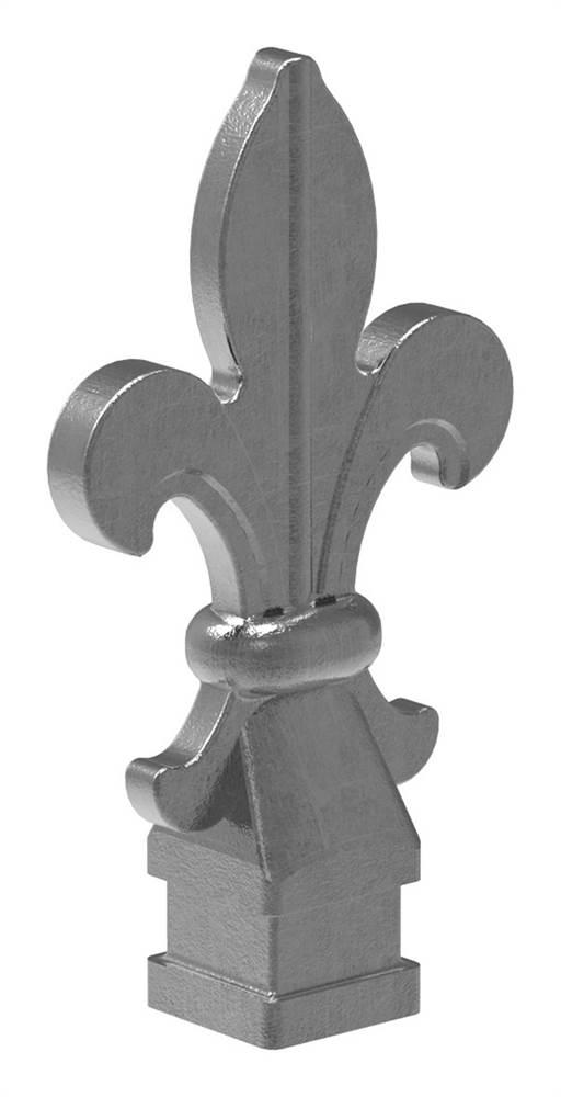 Zaunspitze | Höhe: 120 mm | Material: 25x25 mm | Stahl S235JR, roh