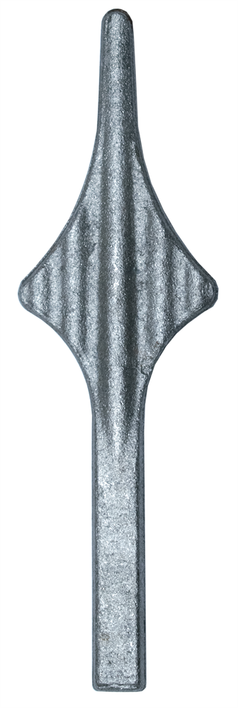 Zaunspitze | Höhe: 150 mm | Material: 12x12 mm | Stahl S235JR, roh