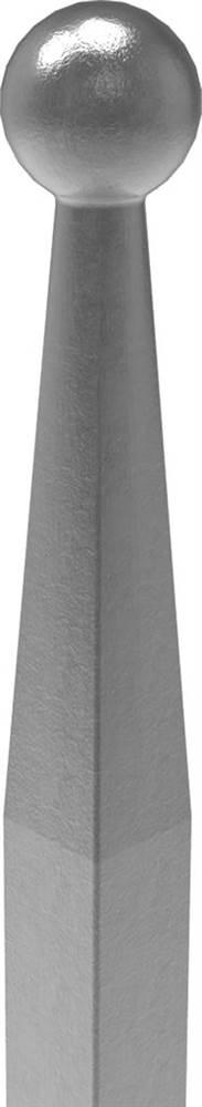 Zaunstab | Länge: 1000 mm | Material 12x12 mm + Kugel Ø 16 mm | Stahl S235JR, roh