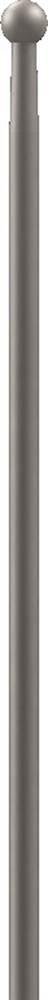 Zaunstab | Länge: 1200 mm | Material Ø 12 mm + Kugel Ø 19 mm | Stahl S235JR, roh