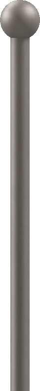 Zaunstab | Länge: 1200 mm | Material Ø 12 mm + Kugel Ø 25 mm | Stahl S235JR, roh