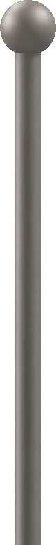 Zaunstab | Länge: 1000 mm | Material Ø 12 mm + Kugel Ø 25 mm | Stahl S235JR, roh