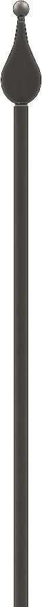 Zaunstab | Länge: 1200 mm | Material 14x14 mm + Spitze mit Kugel | Stahl S235JR, roh