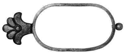 Zierelemente | Maße: 250x100 mm | Stahl (Roh) S235JR