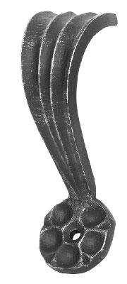 Zierhalter | Maße: 55x140 mm | Material: 8 mm | Stahl (Roh) S235JR