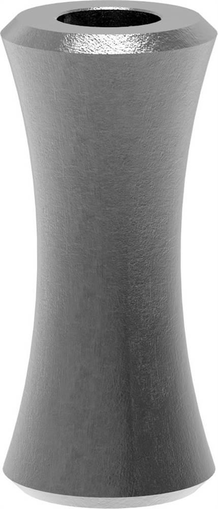 Zierhülse | Maße: 27x60 mm | Lochung: Ø 12,5 mm | Stahl S235JR, roh