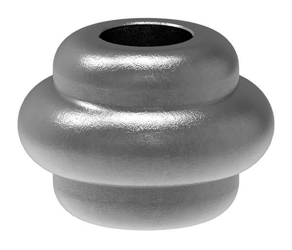 Zierhülse | Maße: 35x25 mm | Lochung: 12,5x12,5 mm | Stahl S235JR, roh