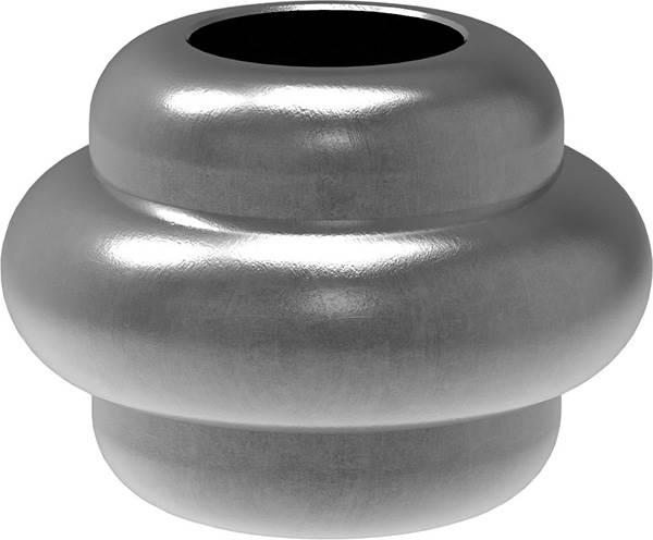 Zierhülse | Maße: 35x25 mm | Lochung: Ø 14,5 mm | Stahl S235JR, roh