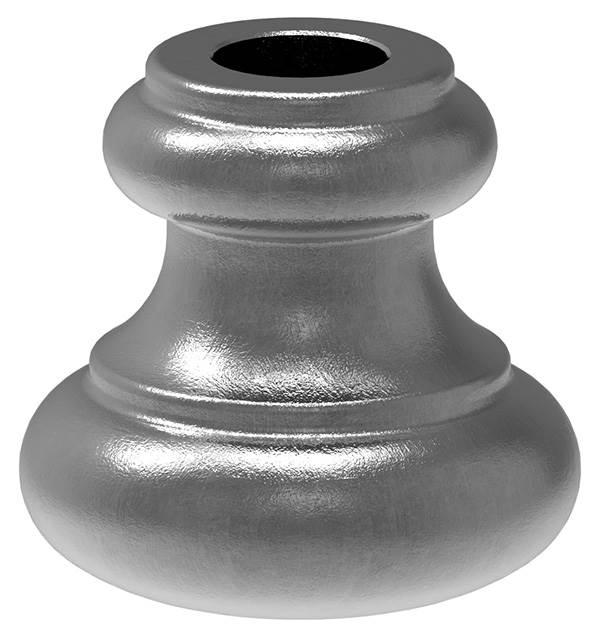 Zierhülse | Maße: 40x39 mm | Lochung: Ø 14,5 mm | Stahl S235JR, roh