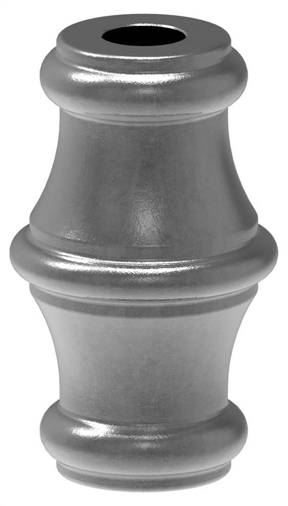 Zierhülse | Maße: 40x67 mm | Lochung: Ø 16,5 mm | Stahl S235JR, roh