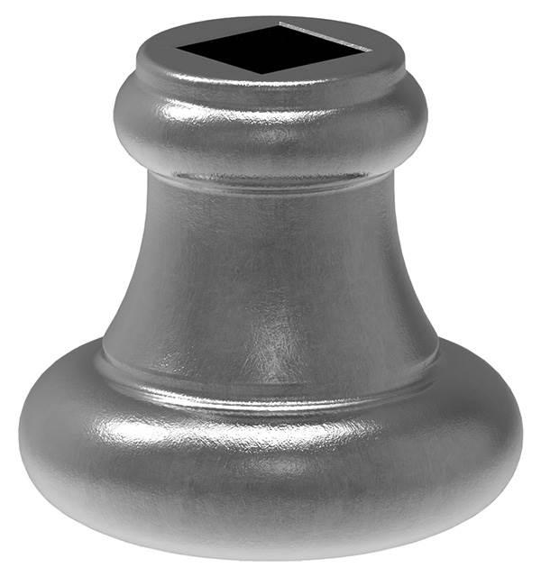 Zierhülse | Maße: 45x44 mm | Lochung: 14,5x14,5 mm | Stahl S235JR, roh