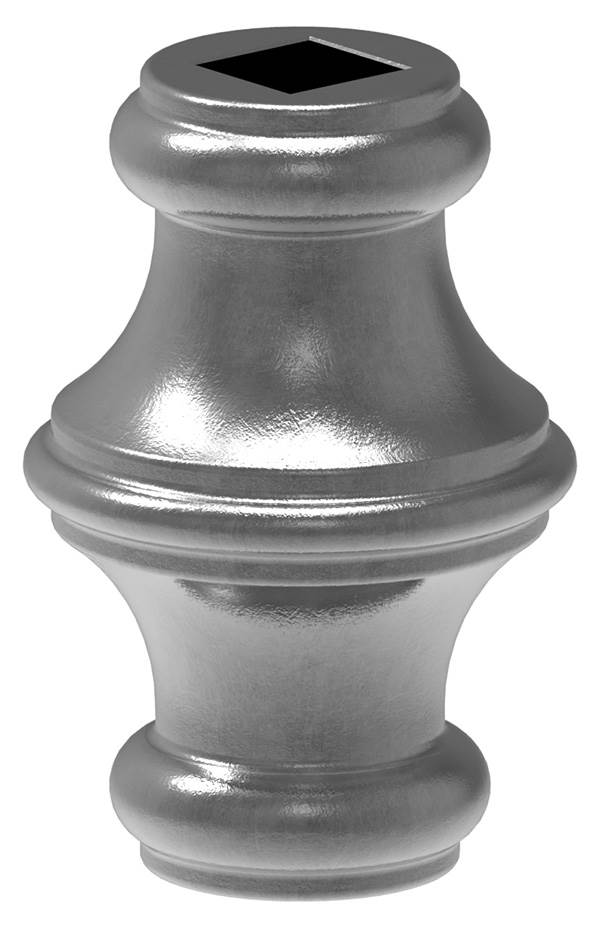 Zierhülse | Maße: 45x67 mm | Lochung: Ø 14,5 mm | Stahl S235JR, roh