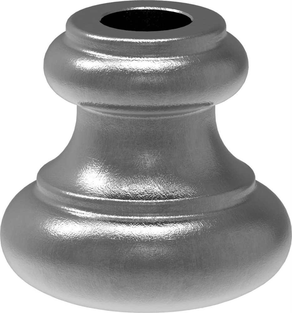 Zierhülse | Maße: 40x39 mm | Lochung: Ø 12,5x12,5 mm | Stahl S235JR, roh