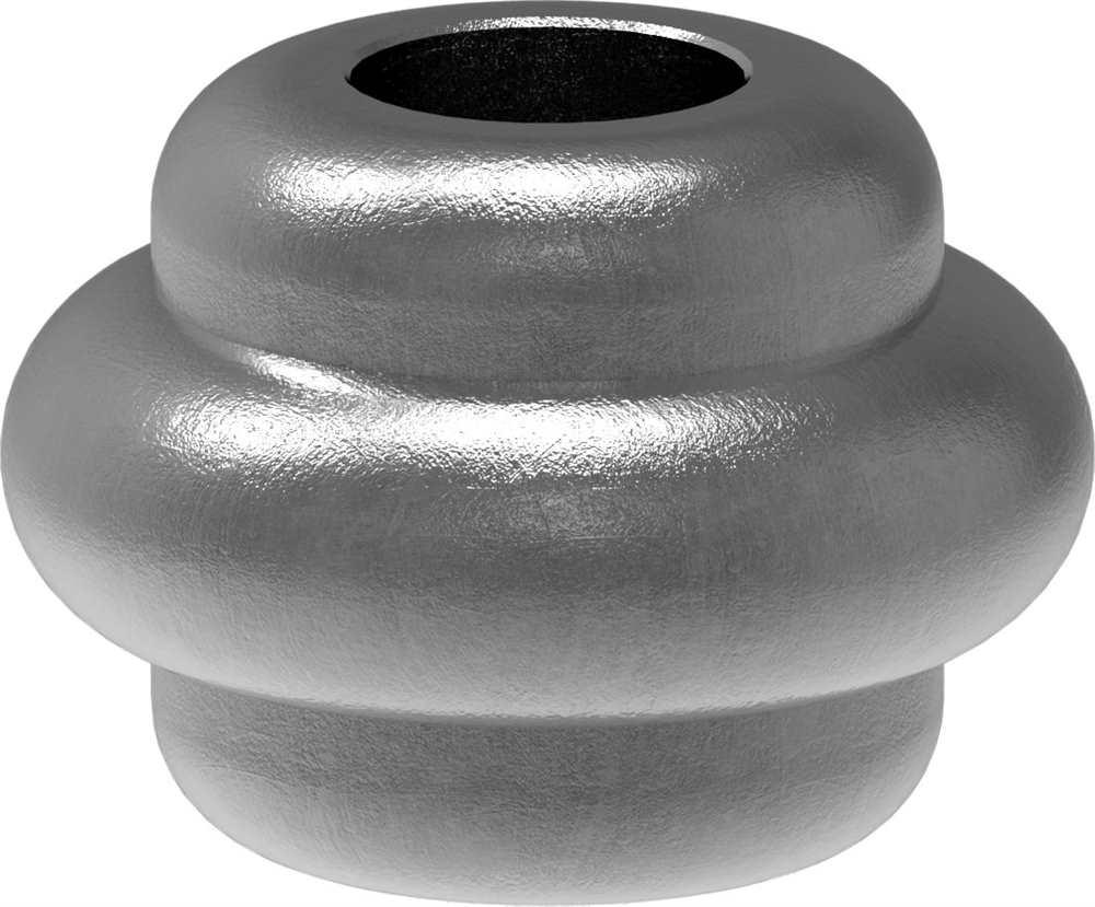 Zierhülse | Maße: 35x25 mm | Lochung: Ø 12,5 mm | Stahl S235JR, roh