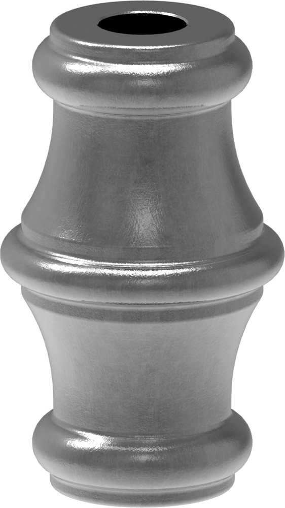 Zierhülse | Maße: 40x67 mm | Lochung: 12,5x12,5 mm | Stahl S235JR, roh