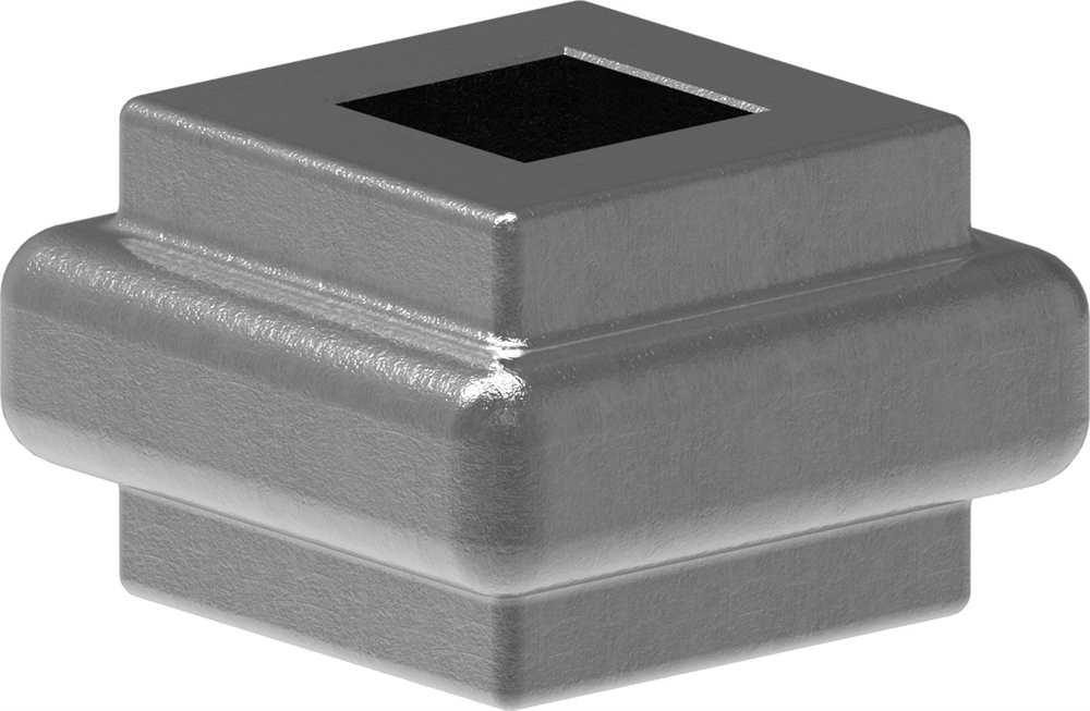Zierhülse | Maße: 38x22 mm | Lochung: 14,5x14,5 mm | Stahl S235JR, roh