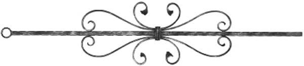 Zierstab | Länge: 900 mm | Material: 12x12 mm | glatt | Stahl (Roh) S235JR