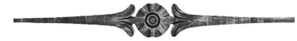 Zierstab | Länge: 900 mm | Material: 15x10 mm gehämmert | Stahl S235JR, roh