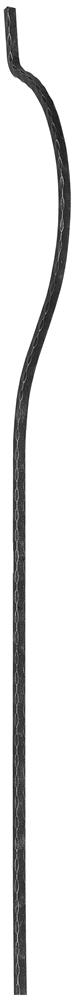Bauchstab | Länge: 1500 mm | Material: 16x16 mm | Stahl S235JR, roh